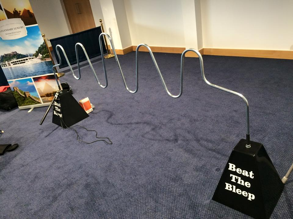Giant Buzz Wire - Beat The Bleep - Exhibition Games Hire