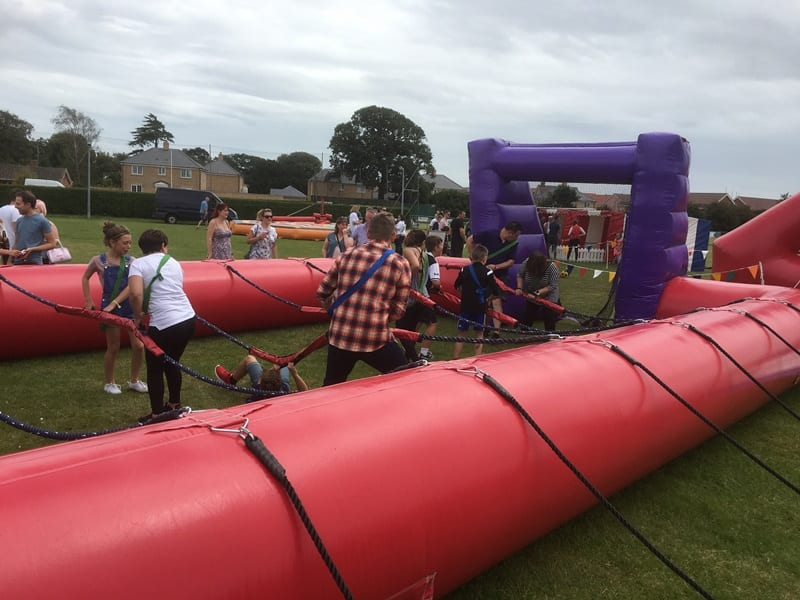 Human Table Football Family Funday Activity