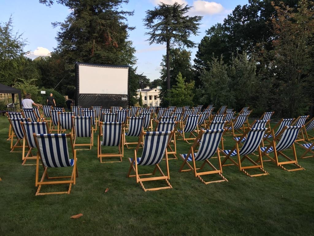 Deckchair Hire for Outdoor Cinemas