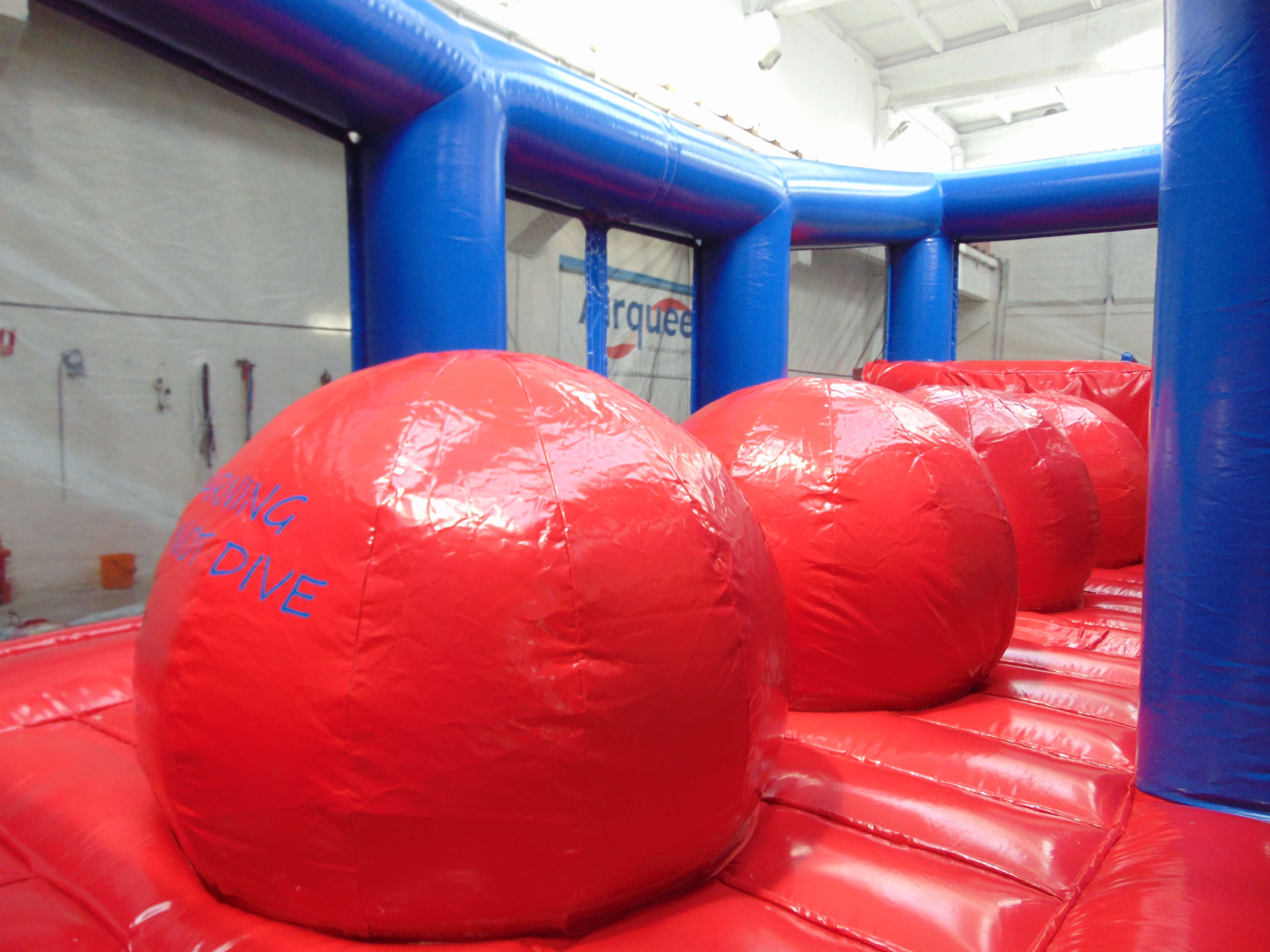 Big Red Balls Inflatable Game